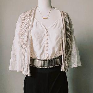 Vintage Alexandria Rosati Lace Embroidered Blazer